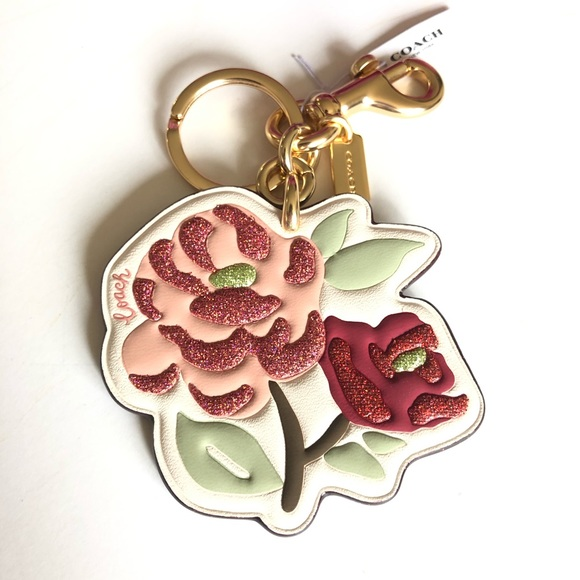 Coach Handbags - Coach Floral/ Flower Bag Charm Keyring